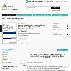 La place des revues dans la communication scientifique en régime de libre accès