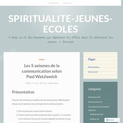 CO_Les 5 axiomes de la communication selon Paul Watzlawick
