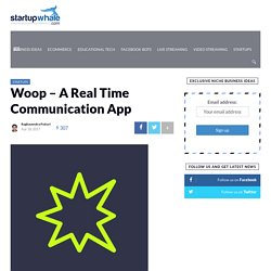 Woop - A Real Time Communication App