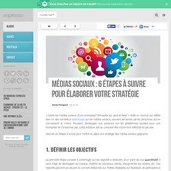 Médias sociaux : 6 étapes à suivre pour élaborer votre stratégie