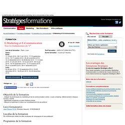 E-Marketing et E-Communication - Formation Stratégies
