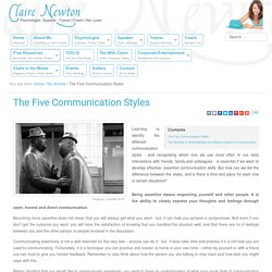 The Five Communication Styles - Claire Newton