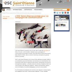 L'ESC Saint-Etienne primée pour sa campagne de communication