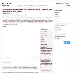 #Redada 14: Nuevos modelos de comunicación, contenidos y periodismo sostenible