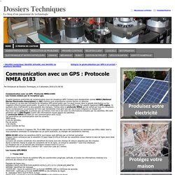 Communication avec un GPS : Protocole NMEA 0183