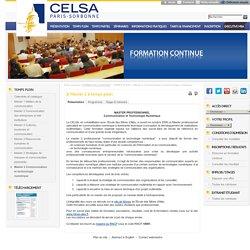 Formation continue - Master 2 Communication et technologie numérique à temps plein
