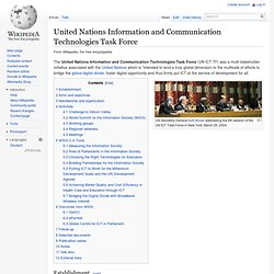 United Nations Information and Communication Technologies Task Force