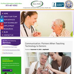 Communication: Pointers When Teaching Technology to Seniors