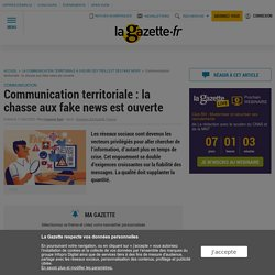 communication territoriale : chasse aux fake news