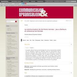 La communication du territoire rennais: jeux d'acteurs et cohérence territoriale