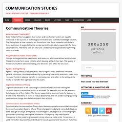 Communication Theories – Communication Studies