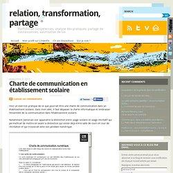 Charte de communication en établissement scolaire