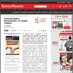 Communication, transmission, un couple orageux