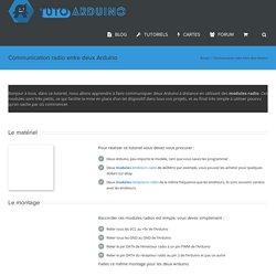 Communication radio entre deux Arduino - TutoArduino