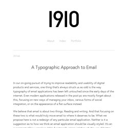 A Typographic Approach to Email