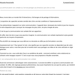 La communication non verbale : Tous ses secrets enfin révélés !