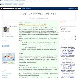 MVVM Communication among ViewModels