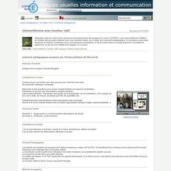 techniques usuelles information et communication - visioconférence avec locuteur natif