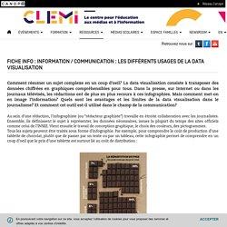 Fiche info : Information / communication : les différents usages de la data visualisation- CLEMI