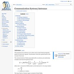 Communication Systems/Antennas