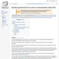 Syndicat général du livre et de la communication écrite CGT
