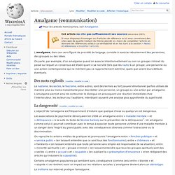 Amalgame (communication)