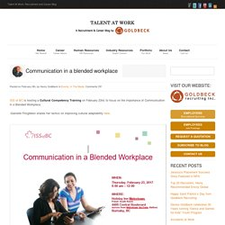 Communication in a blended workplace