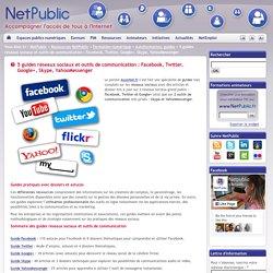 5 guides réseaux sociaux et outils de communication : Facebook, Twitter, Google+, Skype, YahooMessenger
