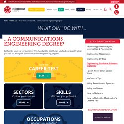 What can I do with a communications engineering degree?