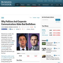 Why Politicos And Corporate Communications Make Bad Bedfellows