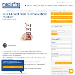 Your 14 point crisis communications checklist