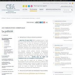 La publicité / Les communications commerciales