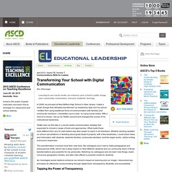 Educational Leadership:Communications Skills for Leaders:Transforming Your School with Digital Communication