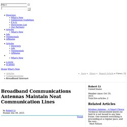 Broadband Communications Antennas