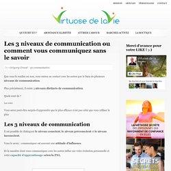 Les 3 niveaux de communications ou comment vous communiquez sans le savoir