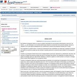 Code des postes et des communications électroniques - Article L34-5