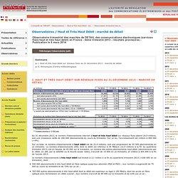 Observatoire du haut et très haut débit sur réseaux fixes - marc