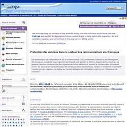 Protection des données dans le secteur des communications électroniques