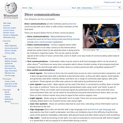 Diver communications