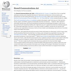Stored Communications Act