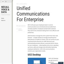 Unified Communications For Enterprise