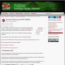 Communications sans-fil RF 433MHz
