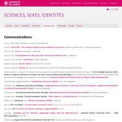 Communications - Sciences, Sexes, Identités