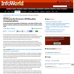 HTML5 in the browser: HTML5 data communications | Application Development