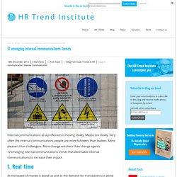 12 emerging internal communications trends