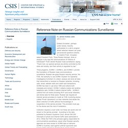 Reference Note on Russian Communications Surveillance