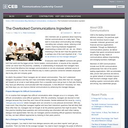 CEC Insider » The Overlooked Communications Ingredient