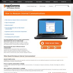 Measuring Internal Communications