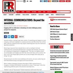 INTERNAL COMMUNICATIONS: Beyond the newsletter