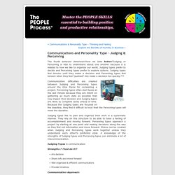Communications and Personality Type – Judging & Perceiving « The PEOPLE Process